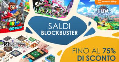 Nintendo – al via i Saldi Blockbuster da giovedì 23 settembre alle 15.00